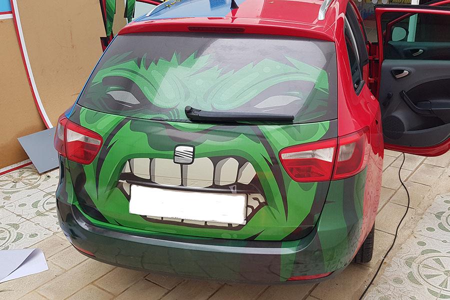Vinilado coches Hulk acabado