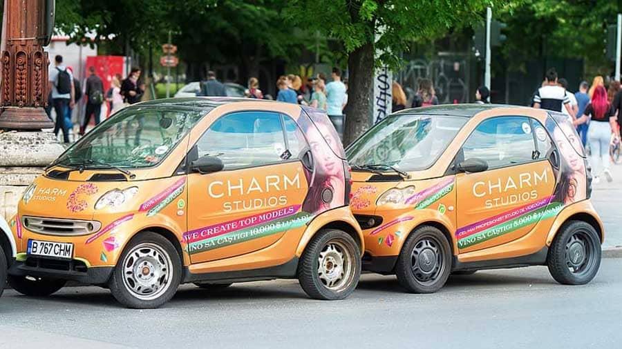 Rotulación para publicidad en coches