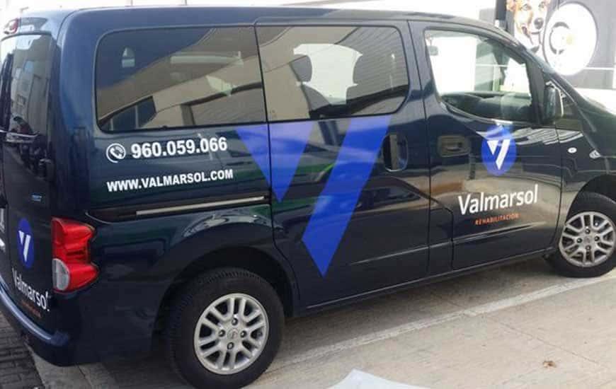 Furgoneta rotulada Valmarsol