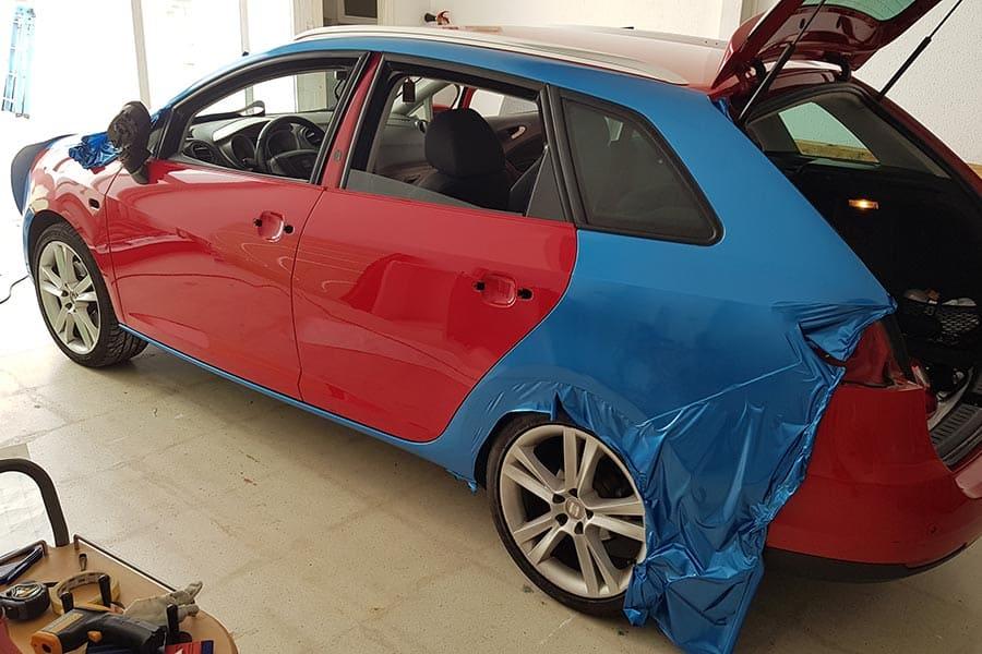 Rotulación integral en un coche proceso de instalación 3ª parte