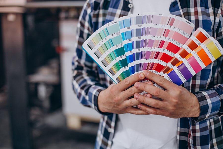 Paleta de colores para impresión digital